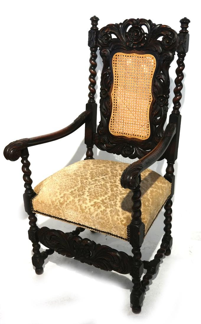 English Charles II-Style Armchair