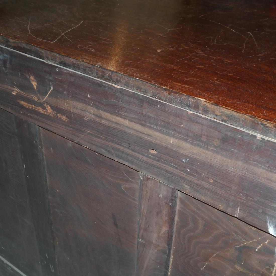 Antique Ornate Golden Oak Sideboard - 8