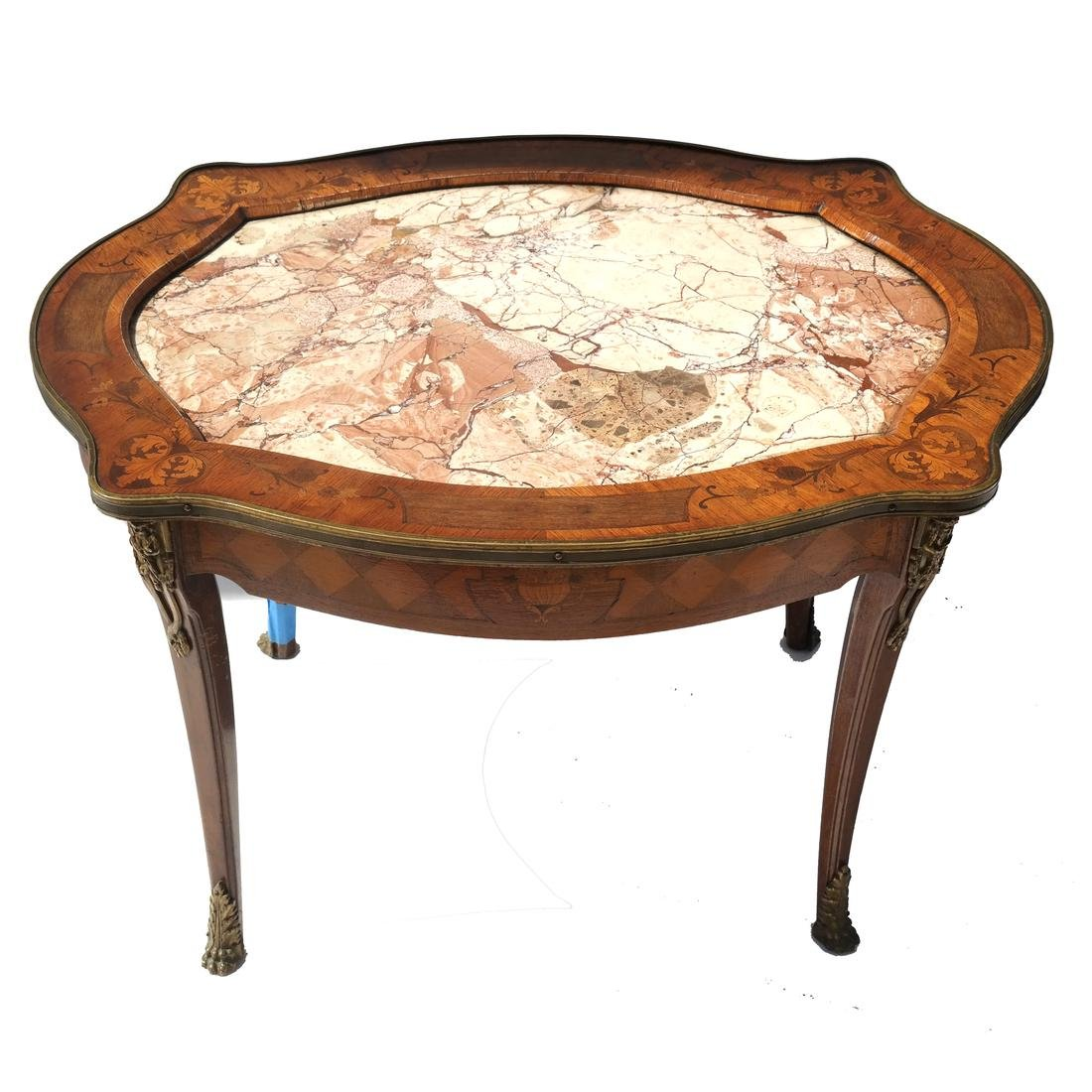 19th C. Inlaid French Coffee/Cocktail Table