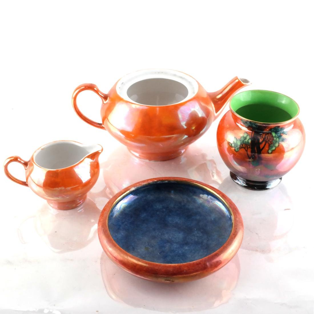 Six Pottery Objects Including English - 4