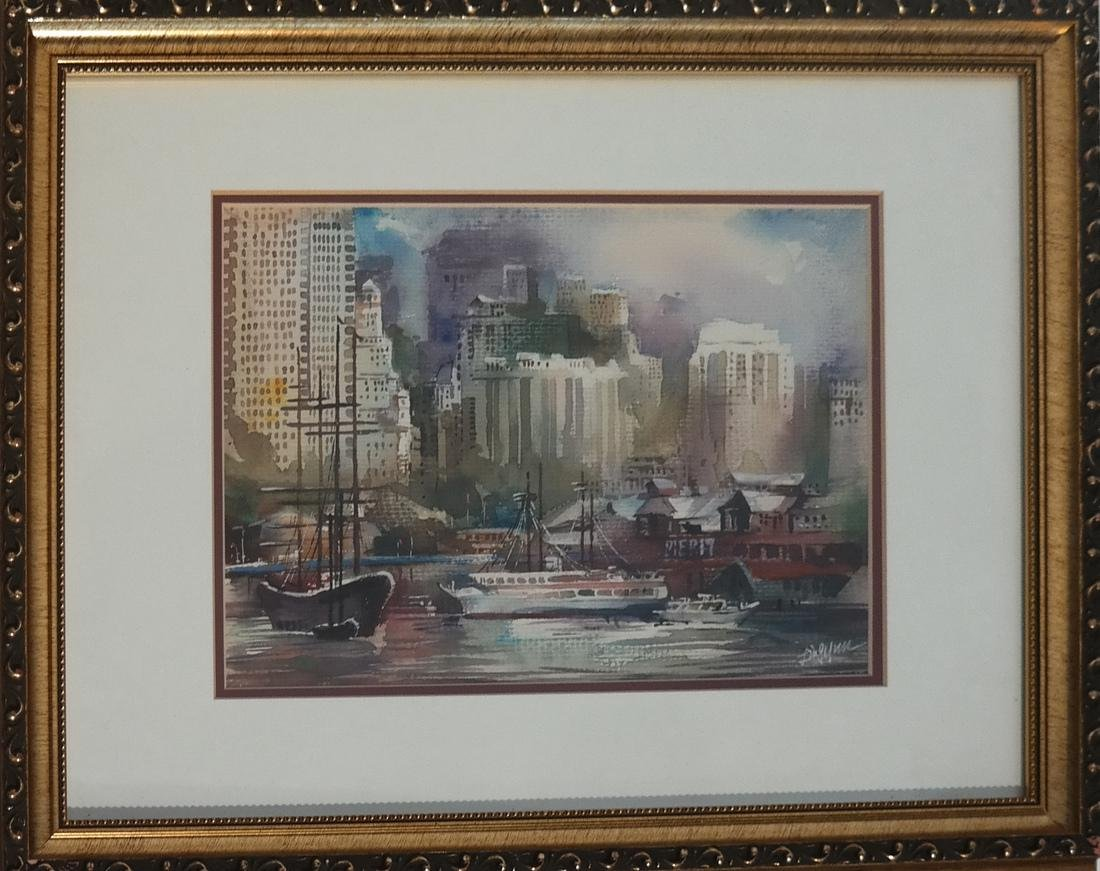 "Ling Yun ""Autumn"" Watercolor"