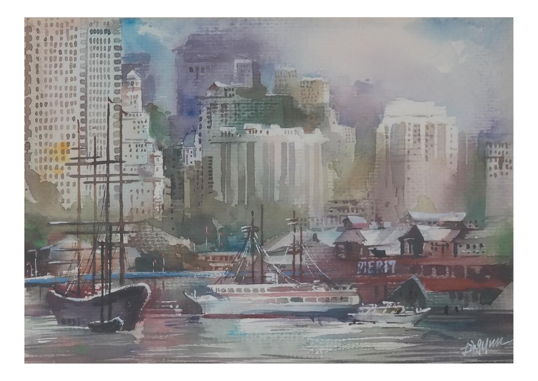 "Ling Yun ""Autumn"" Watercolor - 2"