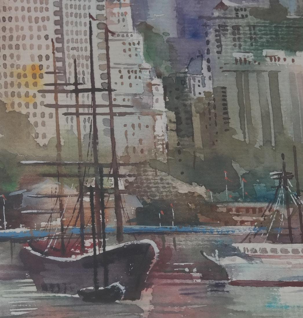 "Ling Yun ""Autumn"" Watercolor - 4"