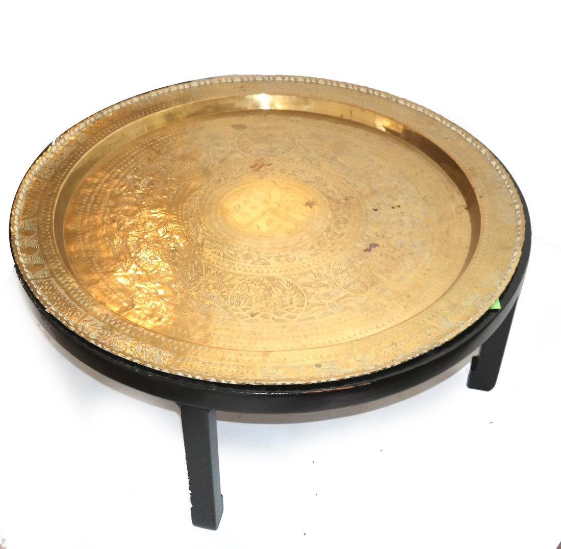 Chinese Brass Charger/Coffee Table