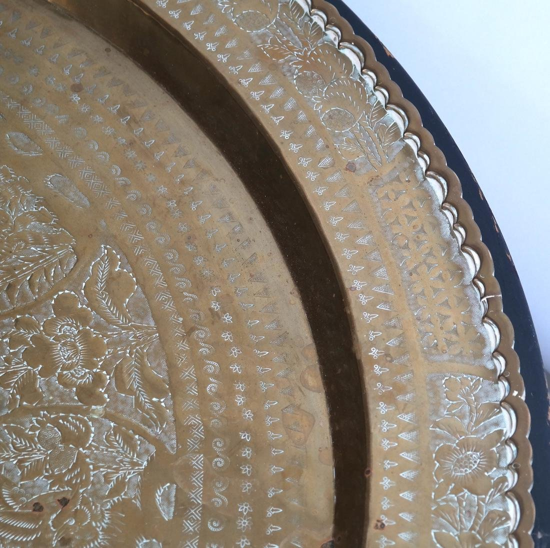 Chinese Brass Charger/Coffee Table - 4
