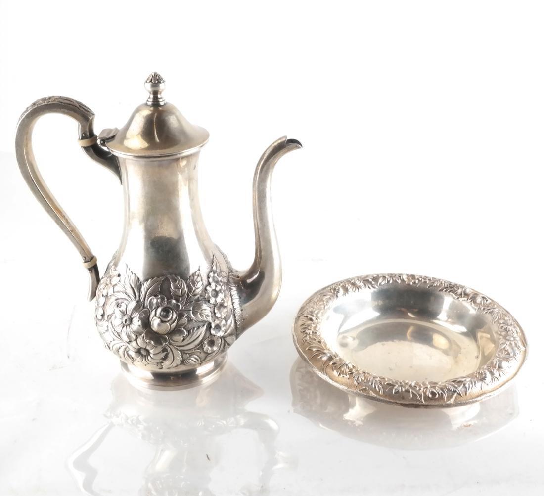 S. Kirk .925 Silver Coffee Pot & Bowl
