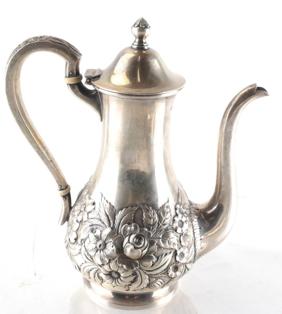 S. Kirk .925 Silver Coffee Pot & Bowl - 4
