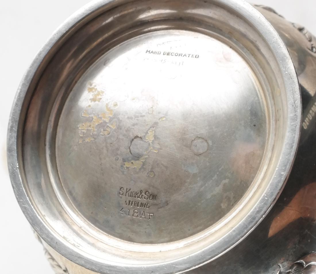 S. Kirk .925 Silver Coffee Pot & Bowl - 6
