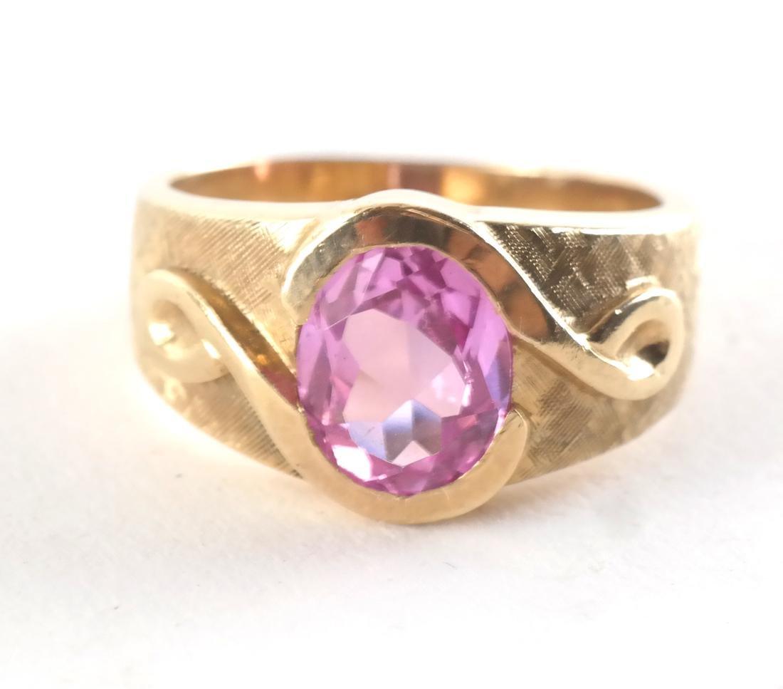 Vintage 14k Man's Dress Ring - 4