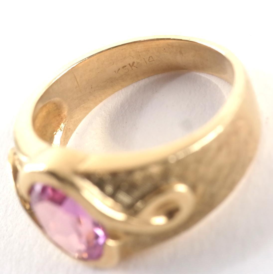 Vintage 14k Man's Dress Ring - 5