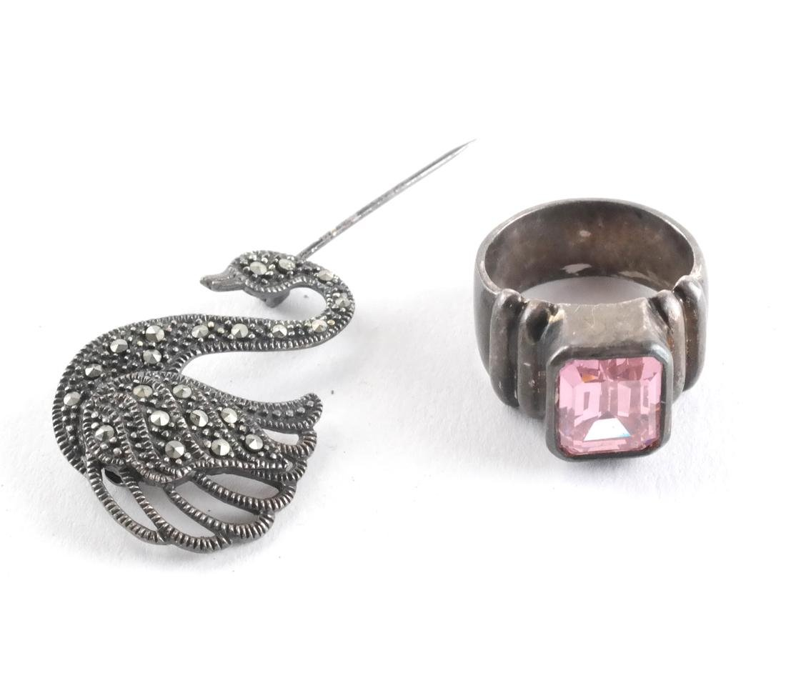 Sterling Silver Ring and Pin