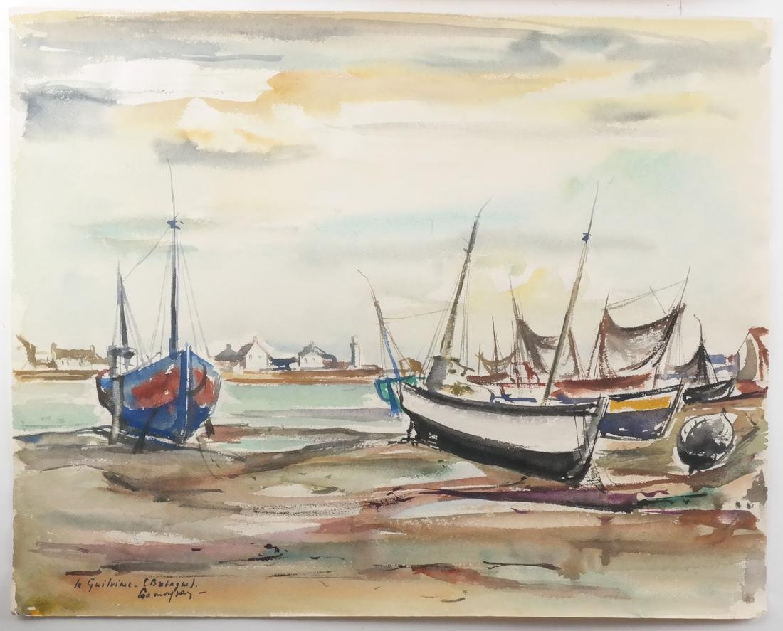 Marcel Cramoysan, Two Watercolors - 3