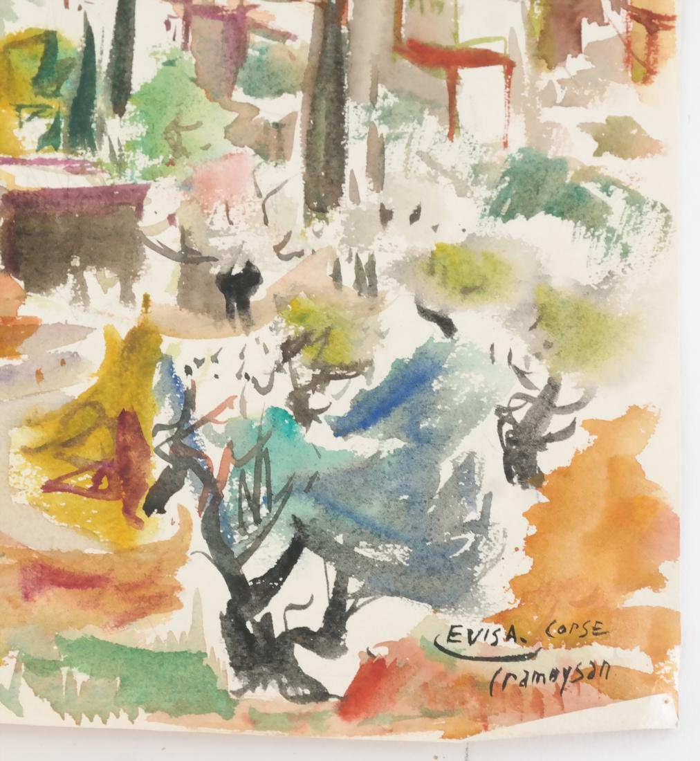 Marcel Cramoysan, Two Watercolors - 5