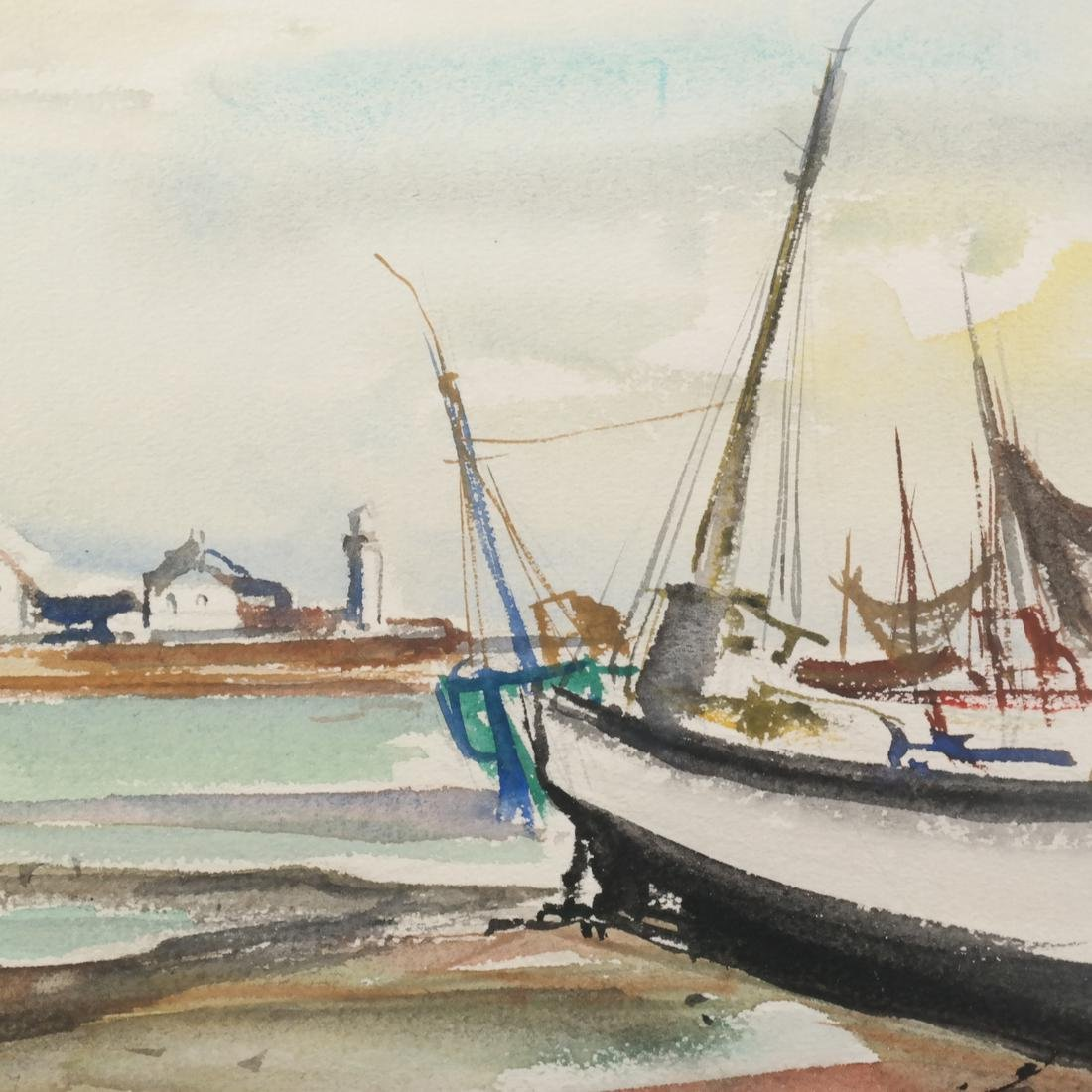 Marcel Cramoysan, Two Watercolors - 7
