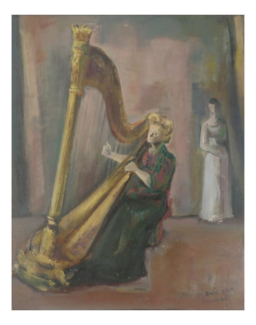 Marcel Cramoysan, Portrait of Harpist