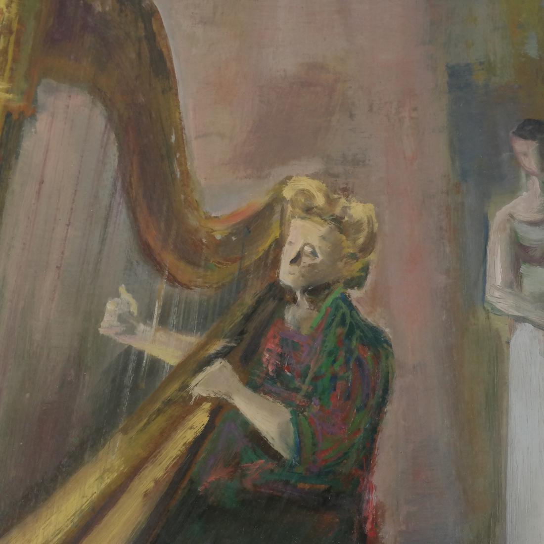 Marcel Cramoysan, Portrait of Harpist - 4