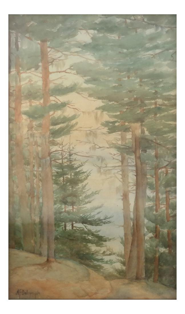 A.F. Dalrymple W/C, Signed - Trees