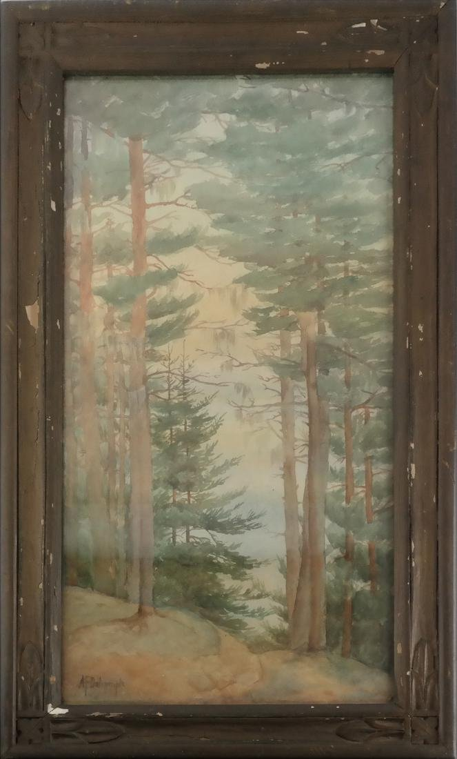 A.F. Dalrymple W/C, Signed - Trees - 2