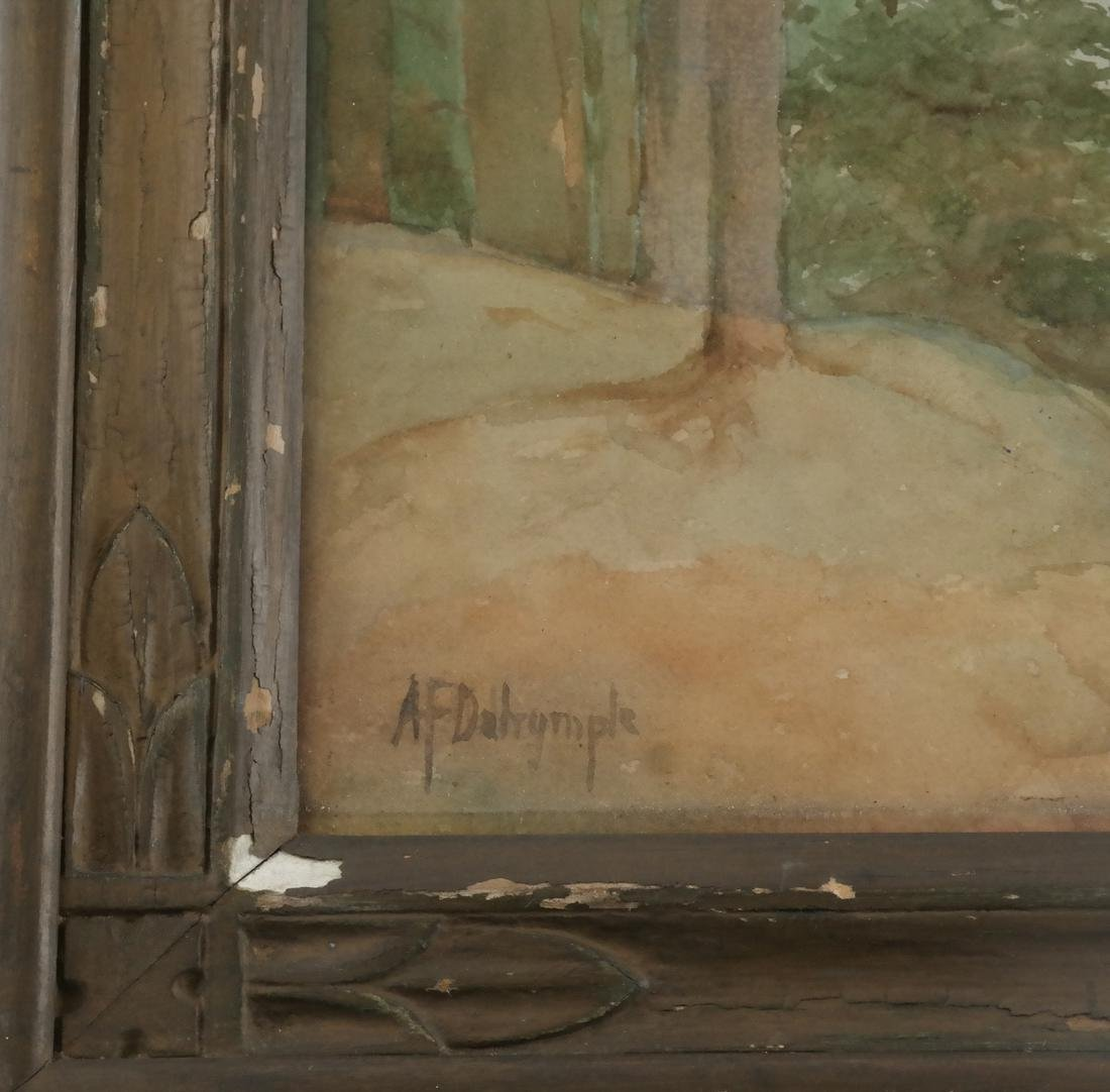 A.F. Dalrymple W/C, Signed - Trees - 3