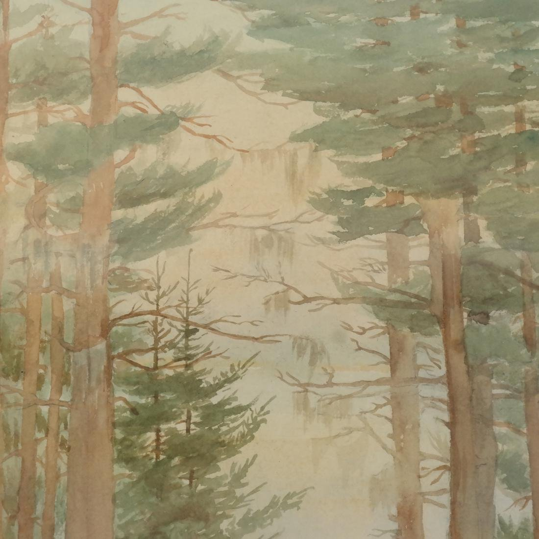 A.F. Dalrymple W/C, Signed - Trees - 4