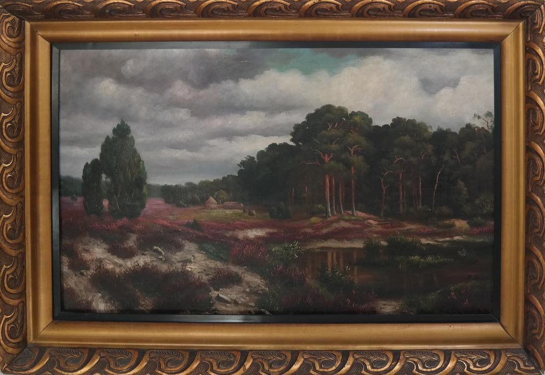 K. Bauer River Landscape, Oil on Canvas - 2