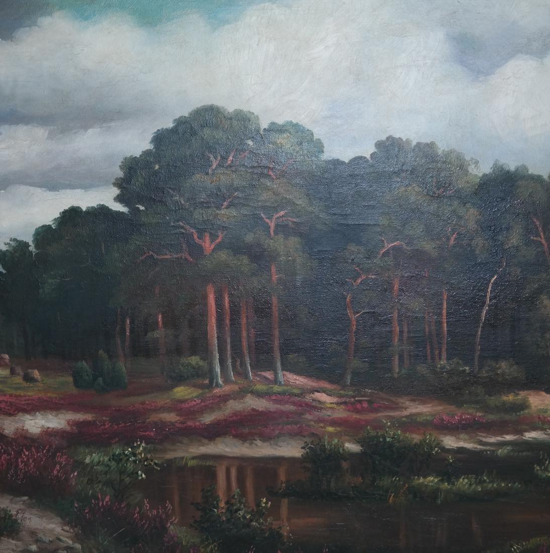 K. Bauer River Landscape, Oil on Canvas - 3