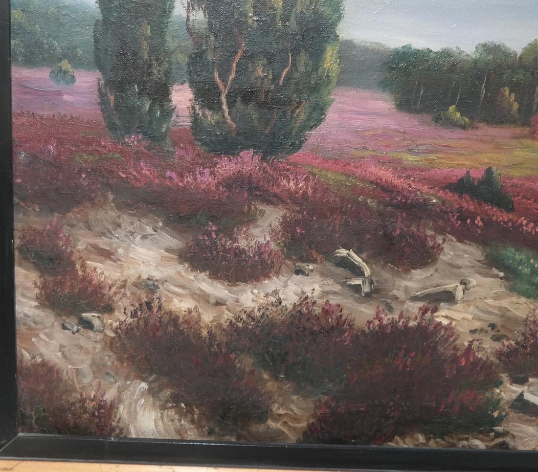 K. Bauer River Landscape, Oil on Canvas - 4