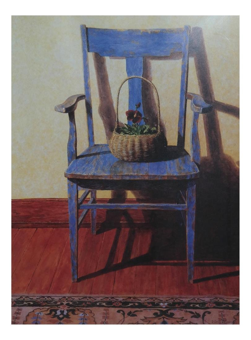 "Ned Young ""Blue Chair"" Lithograph"