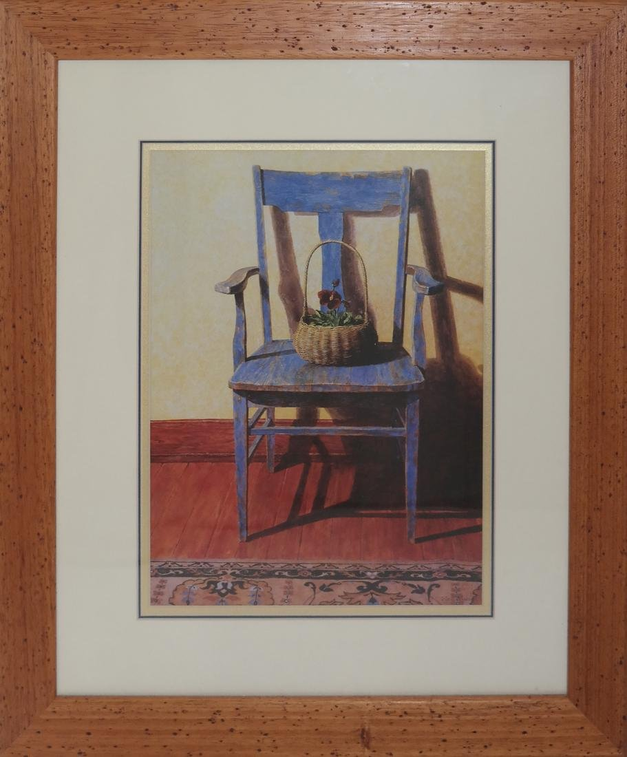 """Ned Young """"Blue Chair"""" Lithograph - 2"""