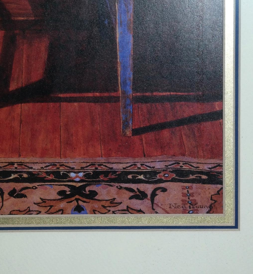 """Ned Young """"Blue Chair"""" Lithograph - 3"""