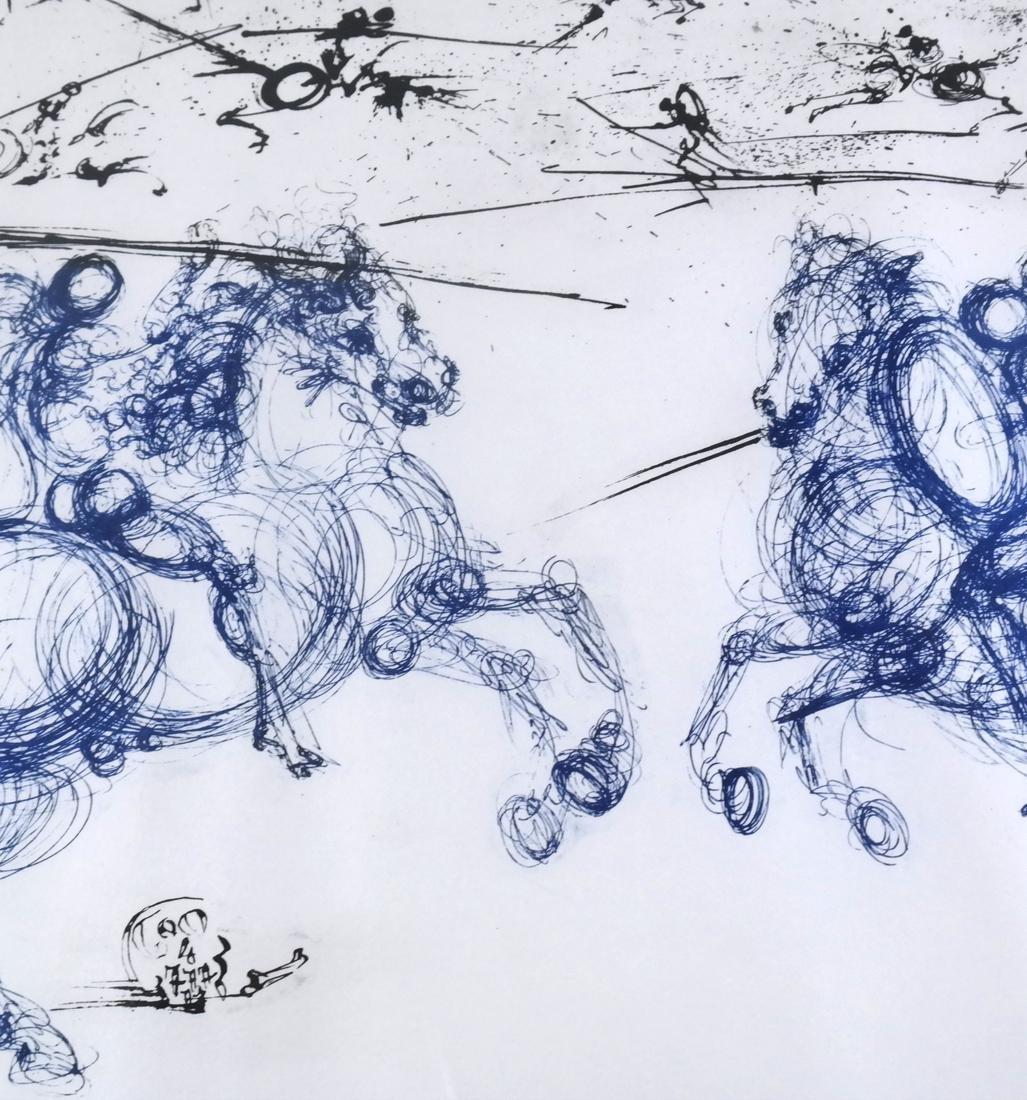 "Salvador Dali, ""Combat des Caveliers"" - Etching - 4"