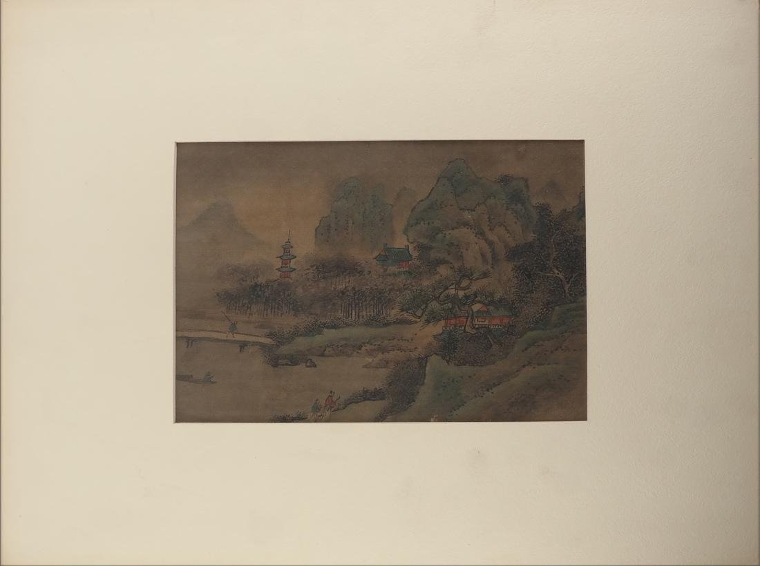 3 Chinese Paintings, Landscape Panels - 2
