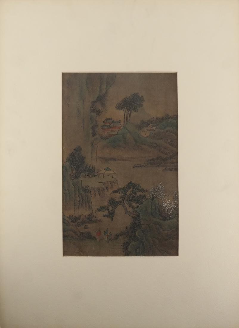 3 Chinese Paintings, Landscape Panels - 4