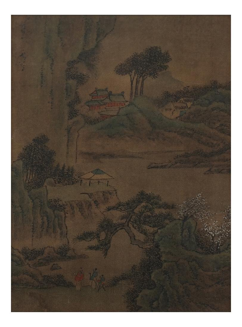 3 Chinese Paintings, Landscape Panels - 5