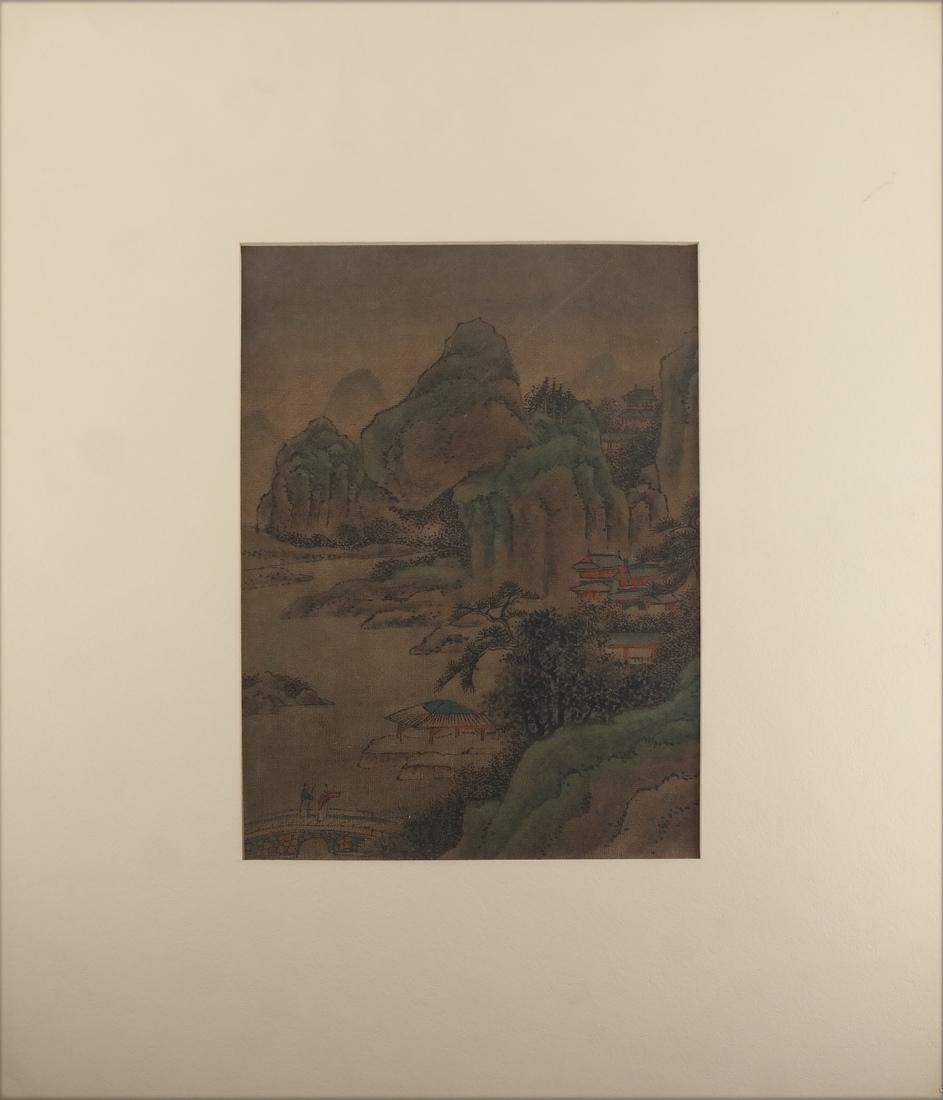 3 Chinese Paintings, Landscape Panels - 6