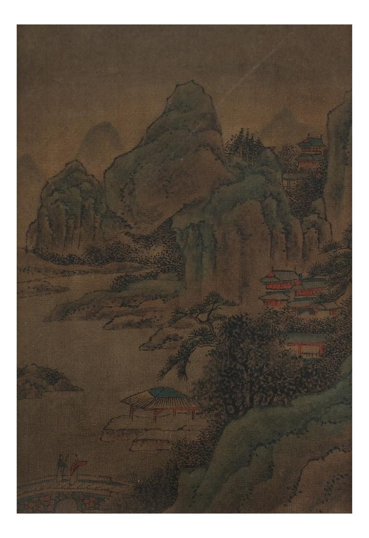 3 Chinese Paintings, Landscape Panels - 7