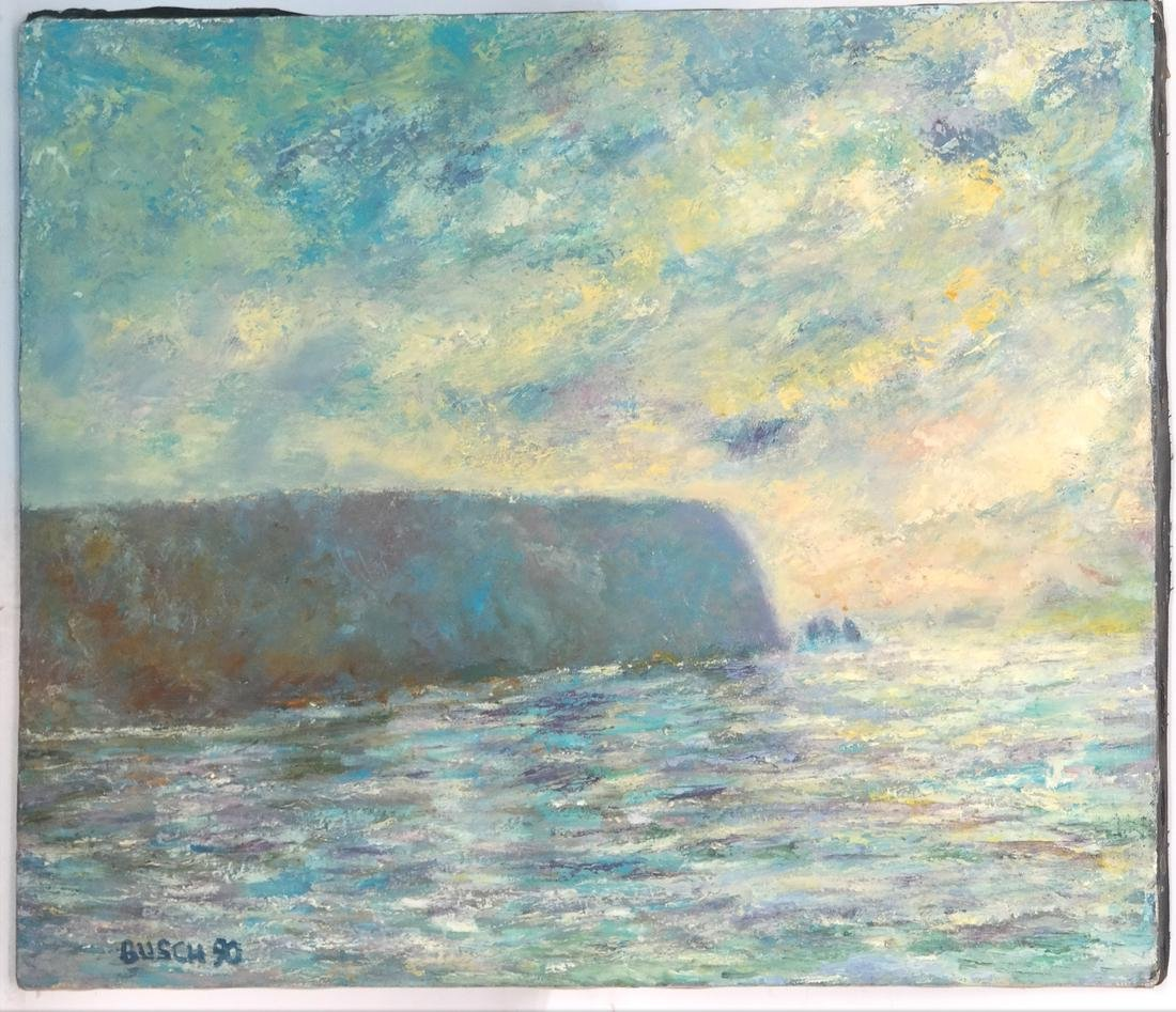 Busch, Impressionist Seascape - O/C