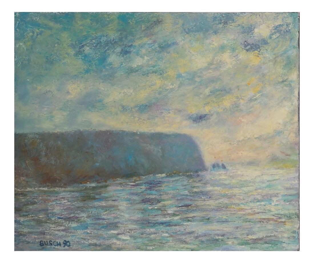 Busch, Impressionist Seascape - O/C - 2