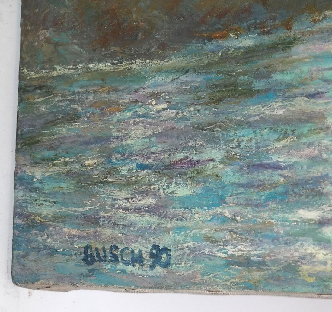 Busch, Impressionist Seascape - O/C - 3