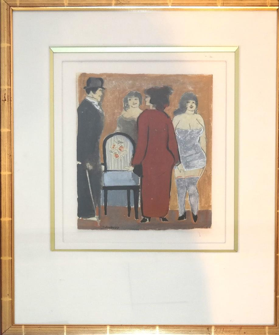 David Schneuer, Figures - Lithograph - 2