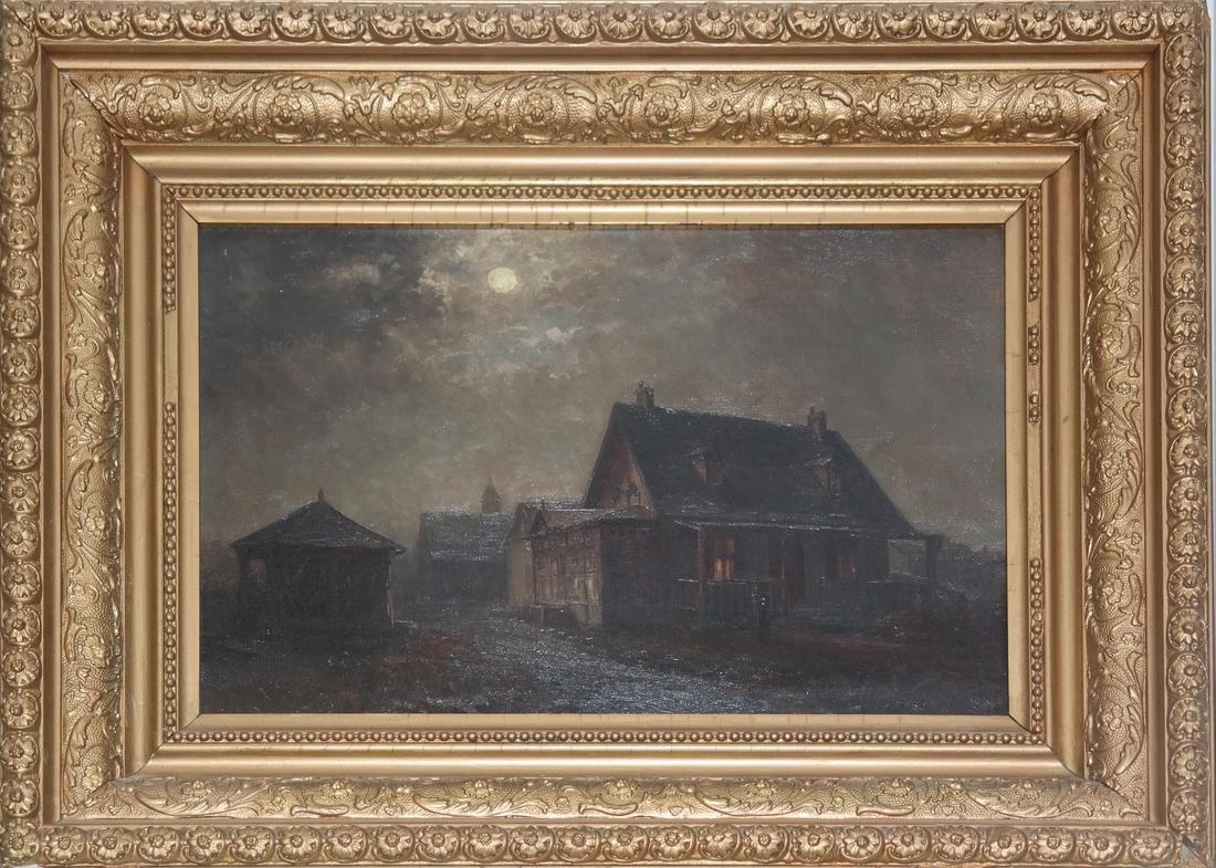 American School, Moonlit Town - O/C - 2