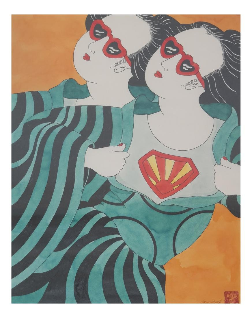Donna Ikkanda, Two Women - Watercolor