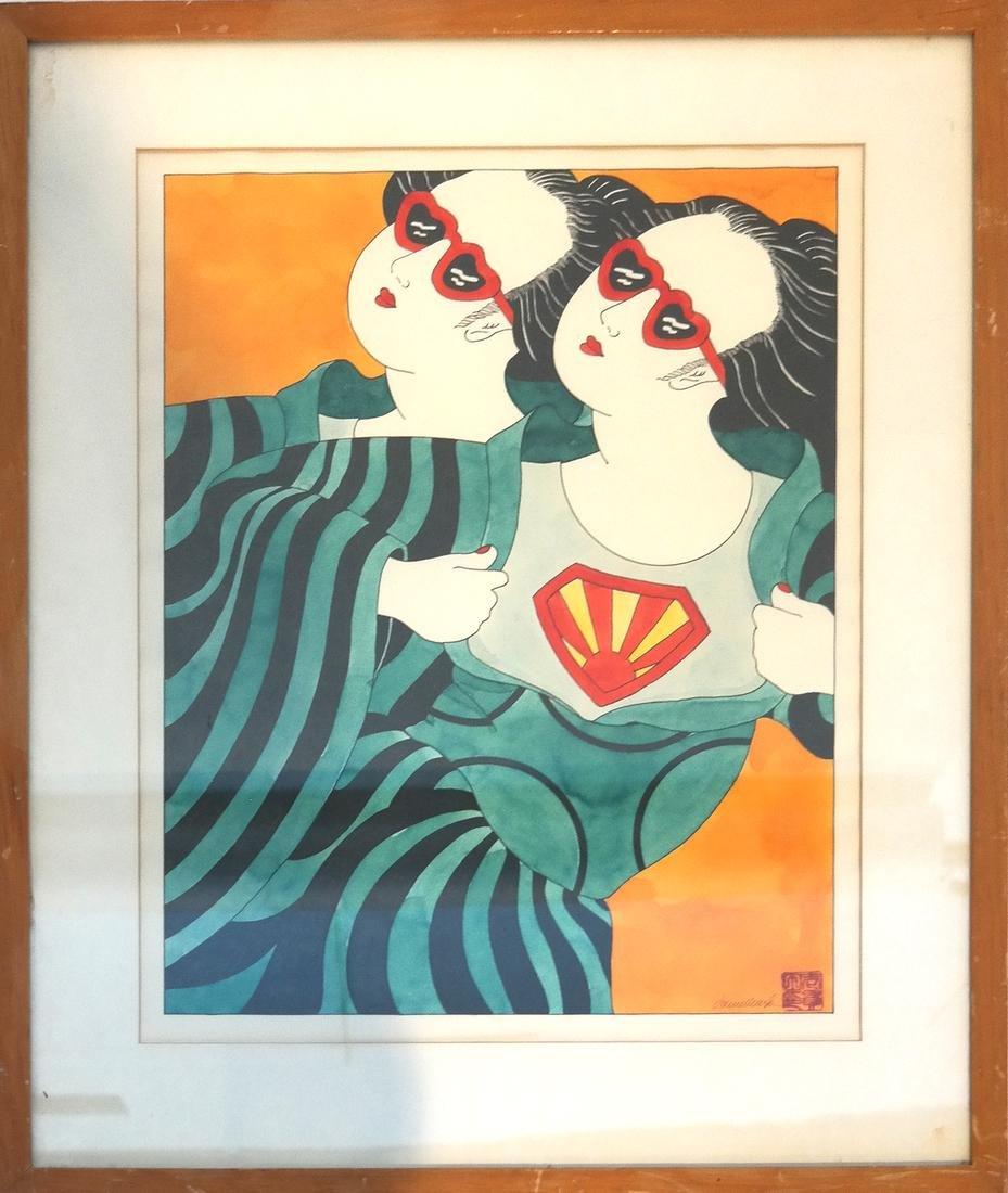 Donna Ikkanda, Two Women - Watercolor - 2
