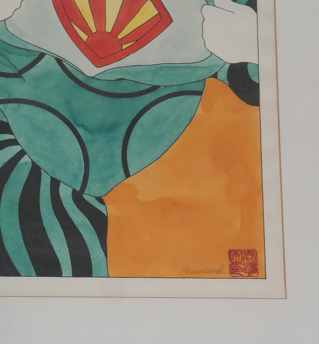 Donna Ikkanda, Two Women - Watercolor - 3