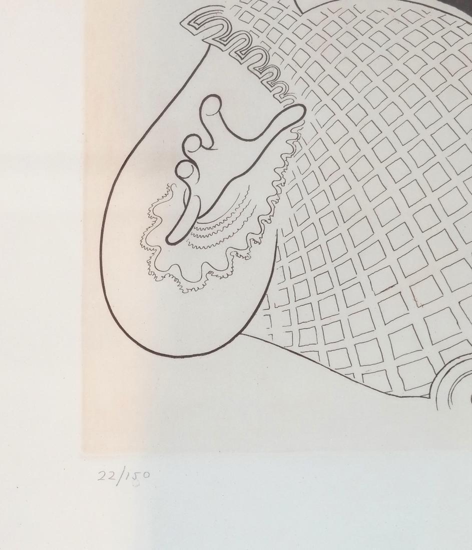 "Albert Hirschfeld Print ""Pavarotti"" - 4"