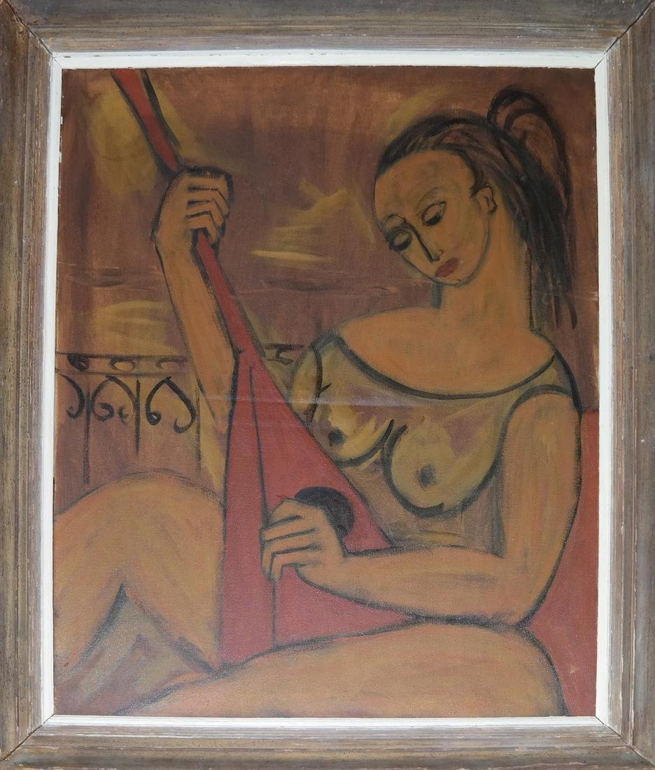 Woman With Lute, Modern Painting - 2