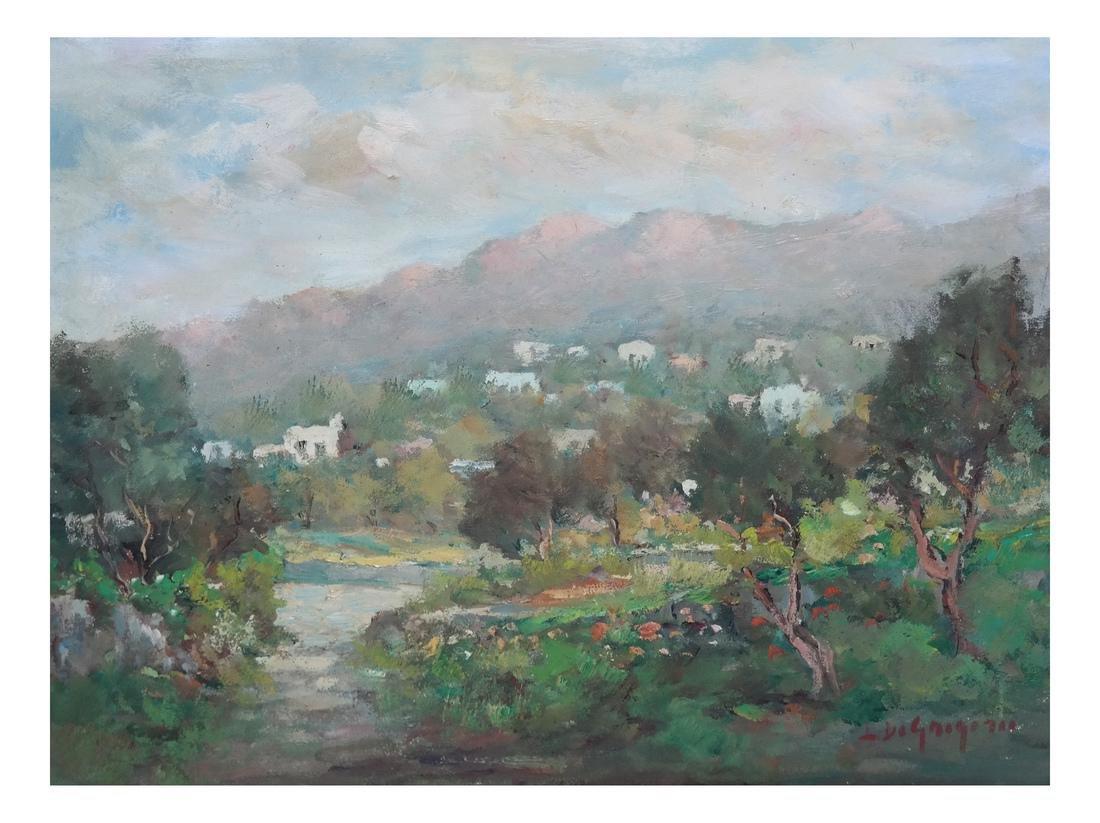 Israeli Oil Painting of Israel Mountains