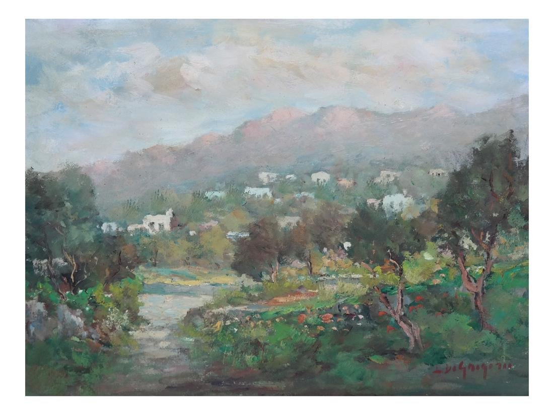Israeli Oil Painting of Israel Mountains