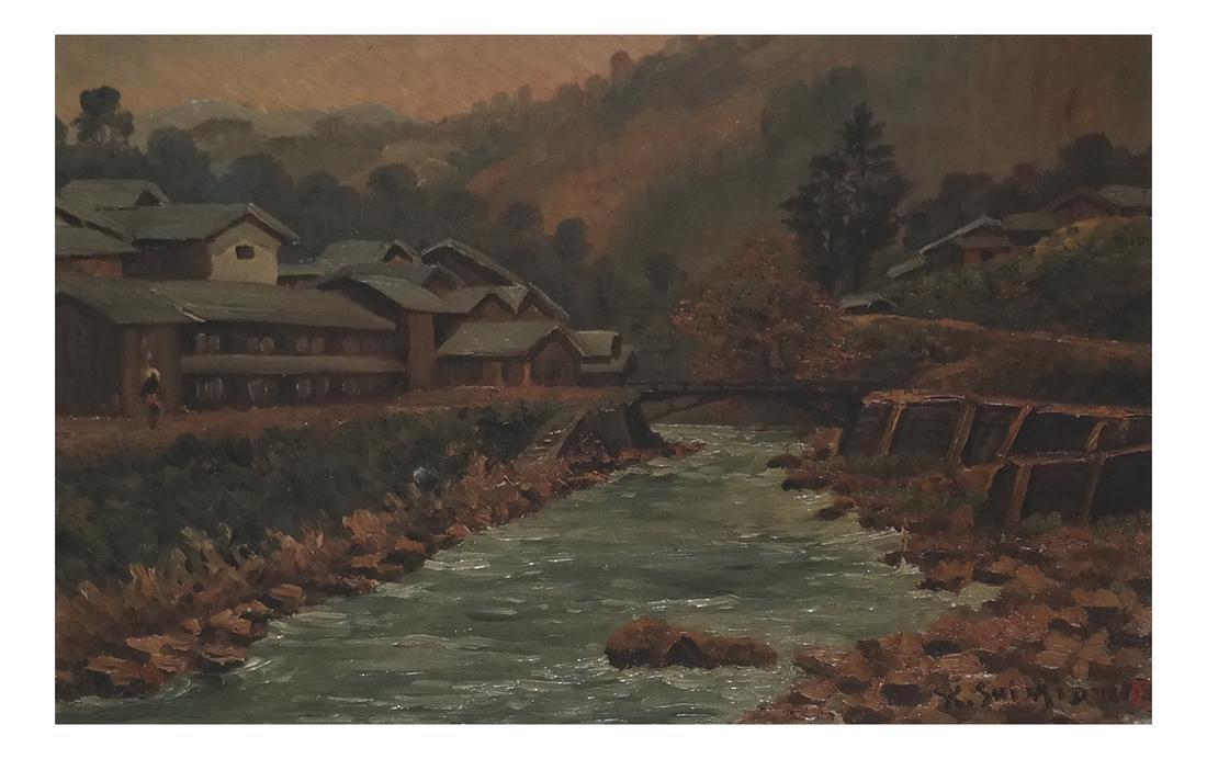 Keisui Shimidzu, Japanese River Landscape