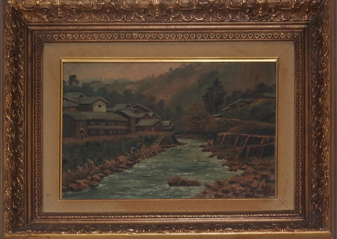 Keisui Shimidzu, Japanese River Landscape - 2